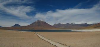 Desert Lagoon. Lagoon close at San Pedro de Atacama Royalty Free Stock Images