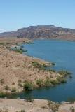 Desert lake. Breathtaking view of a desert lake Stock Photo