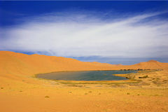 Desert lake Royalty Free Stock Images