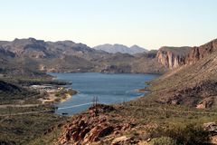 USA, Arizona: Lake in a Desert Royalty Free Stock Images