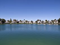 Desert Lake Homes Royalty Free Stock Photo