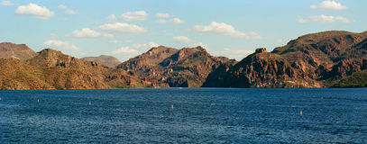 Desert Lake Panorama Royalty Free Stock Photography