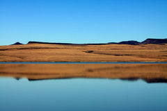 Desert Lake Reflection Royalty Free Stock Photography