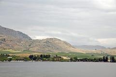 Desert lake view Stock Photo