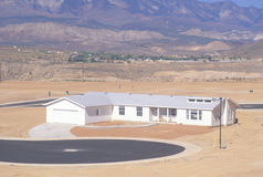 Desert land development Royalty Free Stock Image