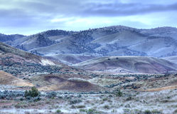 Desert land of the Painted Hills. Stock Image
