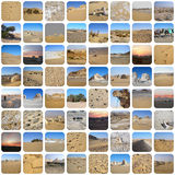 Desert lands mosaique Stock Photo