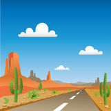 Desert Landscape. A Desert Landscape with Road Royalty Free Stock Images
