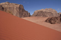 Desert landscape. With a red sanddune royalty free stock photos