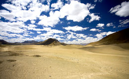 Desert landscape. Barran desert landscape in the himalayan plateau Royalty Free Stock Photo