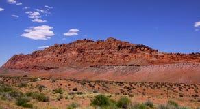 Desert landscape. Panoramic view of sandstone in the desert in Arizona Stock Image