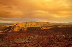 Desert landscape. Near canyonlands utah with dramatic evening lighting Royalty Free Stock Image