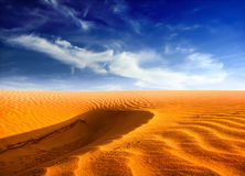 Desert landscape. Sahara and sand dunes Stock Photos