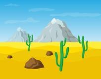 Desert landscape. Desert sand landscape, vector illustration Stock Photography