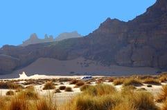 Desert landscape. Acacus Mountains, Libya Stock Photo