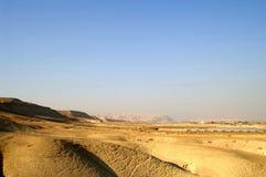 Desert landscape. Hills and blue sky in Arava desert, Israel, hiking Stock Images