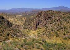 Desert Landscape. View of desert mountain landscape Royalty Free Stock Photos