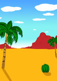 Desert Landscape. Illustration of hand drawing on on a desert theme Royalty Free Stock Image