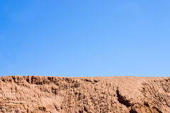 Desert landscape. A heap of sand on a building site Royalty Free Stock Photos
