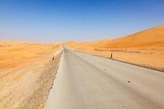 Desert landscape in Abu Dhabi Royalty Free Stock Photography