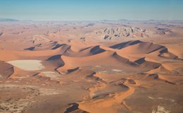 Desert Landscape (aerial view) Royalty Free Stock Images