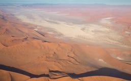 Desert Landscape (aerial view) Stock Images