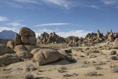 Desert Landscape at the Alabama Hills stock photo