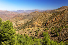 Desert landscape in Antiatlas Mountains Royalty Free Stock Photos