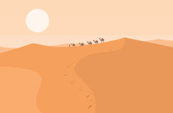 Desert landscape background Royalty Free Stock Images