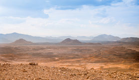 Desert landscape background global warming concept. Sinai, Egypt Royalty Free Stock Images