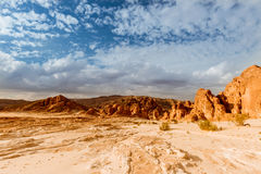 Desert landscape background global warming concept. Sinai, Egypt stock images