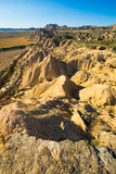 Desert landscape of bardenas reales natural park Royalty Free Stock Photo