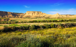 Desert landscape of bardenas reales natural park Royalty Free Stock Photography