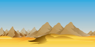 Desert landscape. Bare brown hills and mountains of the desert landscape Royalty Free Stock Photo
