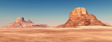 Desert landscape and blue sky Stock Image