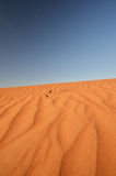 Desert landscape with blue sky Royalty Free Stock Images