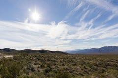 Desert Landscape in California Stock Image