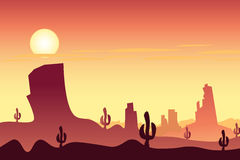 Desert landscape. Can be used by companies Stock Photo