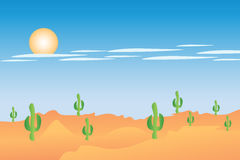 Desert landscape. Can be used by companies Royalty Free Stock Photos