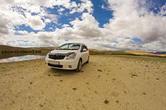 Desert landscape car Royalty Free Stock Photography