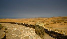 Desert landscape. In the centre of Fuerteventura Royalty Free Stock Photos