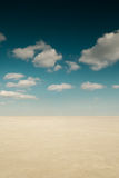 Desert landscape with clouds Stock Photography