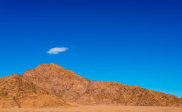 Desert landscape with clouds Royalty Free Stock Photography