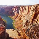 US National Parks, Grand Canyon National Park. Desert landscape and Colorado River, Grand Canyon National Park, Arizona. US National Parks. USA Travel Attraction royalty free stock image