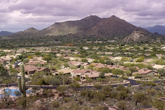 Desert landscape community Scottsdale,AZ,USA Royalty Free Stock Photos