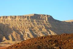 Desert landscape in Crater Ramon. Stock Image