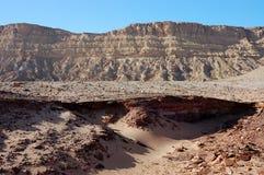 Desert landscape in Crater Ramon. Stock Photo