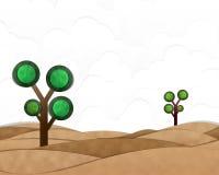 Desert Landscape. Cutting Paste Paper Royalty Free Stock Photos