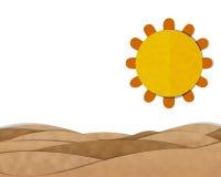 Desert Landscape. Cutting Paste Paper Stock Photo