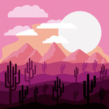 Desert landscape design Royalty Free Stock Photos